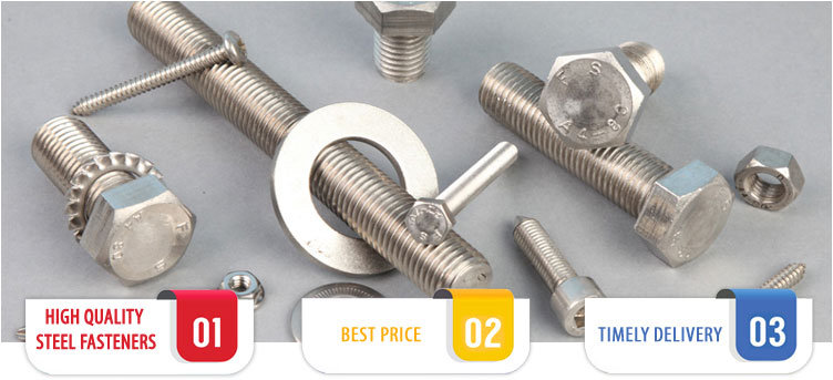 ASTM A307 Carbon Steel Fasteners Suppliers Exporters Stockist Dealers in India